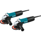 Makita 9557NB2 7.5 Amp 4-1/2 in. Slide Switch AC/DC Angle Grinder (2-Pack)