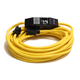 Century Wire D18012025 PowerTech 20 Amp 12/3 AWG GFCI Extension Cord with Adapter - 25 ft. (Yellow)