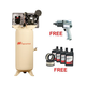 Ingersoll Rand 2475N7.5-VTS Electric-Driven Two-Stage, 80 vertical, 7.5HP with FREE Air Impact Wrench & Start Up