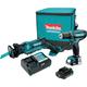 Makita CT229R 12V max 2.0 Ah CXT Cordless Lithium-Ion Reciprocating Saw and Driver Drill Combo Kit