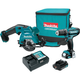 Makita CT227R 12V max 2.0 Ah CXT Cordless Lithium-Ion Drill Driver and Circular Saw Combo Kit