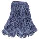 Rubbermaid D213BLU 6-Piece Super Stitch Blend Large Cotton/Synthetic Mop Head (Blue)