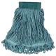Rubbermaid D252GRE 6-Piece Super Stitch Blend Medium Cotton/Synthetic Mop Head (Green)