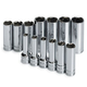 SK Hand Tool 1863 13-Piece 3/8 in. Drive 6-Point Deep/Extra Deep Well Metric Socket Set