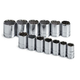 SK Hand Tool 1913 13-Piece 1/2 in. Drive 12-Point Metric Socket Set
