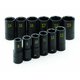 SK Hand Tool 4080 12-Piece 3/8 in. Drive Semi-Deep Metric Impact Socket Set