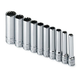 SK Hand Tool 4950 10-Piece 1/4 in. Drive 12-Point Deep SAE Socket Set
