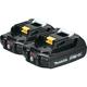 Makita BL1820B-2 18V 2.0 Ah Compact Lithium-Ion Battery (2-Pack)