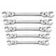 GearWrench 81910 5 pc. Flex Flare Nut Wrench Set - SAE