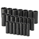 SK Hand Tool 4046 22-Piece 1/2 in. Drive 6-Point Deep Well Metric Impact Socket Set
