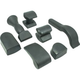 Dent Fix Equipment DF-AB711 7 -Piece Rubber Dolly Set / Alum.