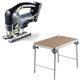Festool C28500608 Carvex 18V Cordless Lithium-Ion D-Handle Jigsaw (Bare Tool) plus MFT/3 Basic  Multi-Function Work Table
