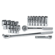 SK Hand Tool 4123-6 23-Piece 1/2 in. Drive 6-Point Std/Deep Well SAE Socket Set