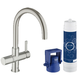 Grohe 31312DC1 Blue Pure Single Hole Kitchen Faucet (Steel)