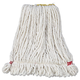 Rubbermaid A211WHI 6-Piece Web Foot Small Shrinkless Cotton/Synthetic Wet Mop Head with 1 in. Headband (White)