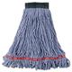 Rubbermaid A252BLU 6-Piece Web Foot Shrinkless Cotton/Synthetic Medium Wet Mop Head
