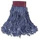 Rubbermaid D253BLU 6-Piece Super Stitch Blend Large Cotton/Synthetic Mop Head (Blue)