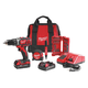 Milwaukee 2606-22CTP M18 18V Cordless Lithium-Ion 1/2 in. Drill Driver Contractor Kit