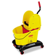Rubbermaid 7677YEL WaveBrake 8-3/4 Gallon Dual-Water Down-Press Bucket/Wringer Combo (Yellow)