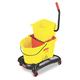 Rubbermaid 768000YW WaveBrake 35 Quart Dual Water Side-Press Mop Bucket/Wringer (Yellow)