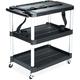 Rubbermaid 9T28 MediaMaster Portable Three-Shelf AV Cart (Black)