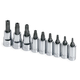 SK Hand Tool 19769 9-Piece 1/4 in. & 3/8 in. Drive Tamper-Proof Torx Socket Set