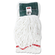 Rubbermaid A25206WHICT Web Foot Shrinkless Looped-End Medium Cotton/Synthetic Wet Mop Head (White)
