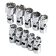 SK Hand Tool 1336 10-Piece 1/4 in. Drive 12-Point Flex Metric Socket Set