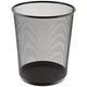 Rubbermaid WMB20BK 5-Gallon Round Steel Mesh Wastebasket (Black)
