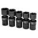 SK Hand Tool 34352 5-Piece 1/2 in. Drive 6-Point Swivel Metric Impact Topper Socket Set