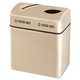 Rubbermaid R2416TPPLALM Two-Section Fiberglass Recycling Center (Beige)