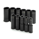 SK Hand Tool 4041 11-Piece 1/2 in. Drive 6-Point Deep Well SAE Impact Socket Set