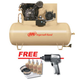 Ingersoll Rand 2545E10-VPTS Electric 2-Stage 10 HP Air Compressor with Air Impact Wrench & Start Up Kit