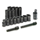 SK Hand Tool 4050 17-Piece 1/2 in. Drive 6-Point Std/Deep Well SAE Impact Socket Set