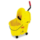 Rubbermaid 757788YW WaveBrake 35 Quart Bucket/Wringer Combination (Yellow)