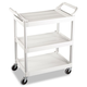 Rubbermaid 342488OWH 200 lb. Capacity 18-5/8 in. x 33-5/8 in. x 37-3/4 in. Service Cart (Off-White)