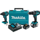 Makita XT248MB LXT 18V 4.0 Ah Cordless Lithium-Ion Brushless Hammer Driver Drill and Impact Driver Combo Kit