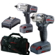 Ingersoll Rand IQV20-2012 IQV20 20V Cordless Lithium-Ion 1/2 in. & 3/8 in. Impact Wrench Combo Kit