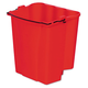 Rubbermaid 9C74RED 18 Quart Dirty Water Bucket (Red)