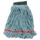 Rubbermaid A252GRE 6-Piece Web Foot Shrinkless Medium Cotton/Synthetic Wet Mop Head (Green)