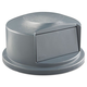 Rubbermaid 264788GRA Round Dome Top Receptacle (Gray) for 24-13/16 in. Brute Containers