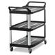Rubbermaid 409100BLA 300 lb. Capacity 40-5/8 in. x 20 in. x 37-13/16 in. Open Sided Utility Cart (Black)