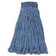 Rubbermaid C154BLU 6-Piece Swinger Loop XL Cotton/Synthetic Wet Mop Head (Blue)