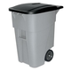 Rubbermaid 9W27GY Brute 50-Gallon Square Plastic Rollout Container (Gray)