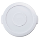 Rubbermaid 2609WHI Round Flat Top Lid (White) for 16 in. Brute Containers