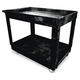 Rubbermaid 9T6700BLA 300 lb. Capacity 24 in. x 40 in. x 31-1/4 in. Service Utility Cart (Black)