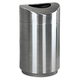 Rubbermaid R2030SSPL Eclipse 30-Gallon Curved Open Top Waste Receptacle (Stainless Steel)