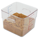 Rubbermaid 6306CLE 6 qt. SpaceSaver Square Container (Clear)