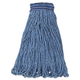 Rubbermaid E238 12-Piece 24 oz. Universal Headband Cotton/Synthetic Mop Head (Blue)