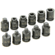 Grey Pneumatic 1211P 11-Piece 3/8 in. Drive Pipe Plug Standard Socket Set